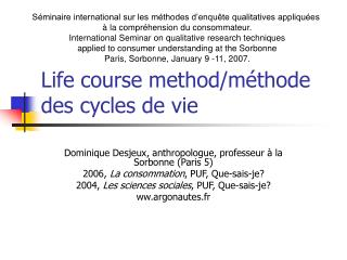 Life course method