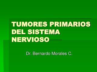 TUMORES PRIMARIOS DEL SISTEMA NERVIOSO