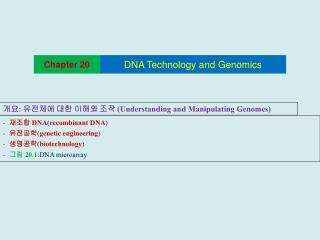 DNArecombinant DNA genetic engineering biotechnology  20.1:DNA microarray