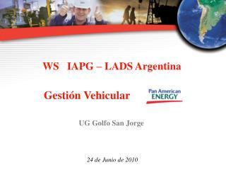 WS   IAPG   LADS Argentina             Gesti n Vehicular