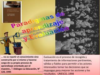 Paradigmas de  aprendizaje y Evaluaci n