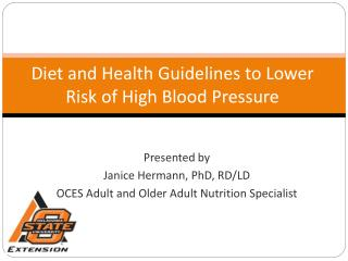 Diet and Health Guidelines to Lower Risk of High Blood Pressure