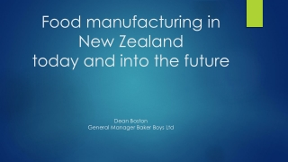 Competitive Manufacturing in New Zealand