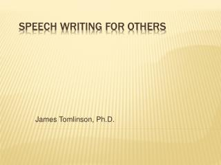 Speech Writing for Others