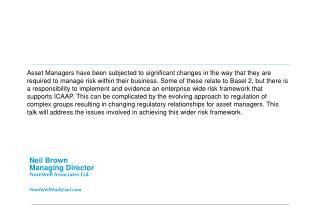 Neil Brown Managing Director NoteWell Associates Ltd.  NoteWellMailaol