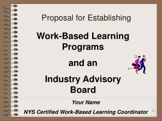 Proposal for Establishing