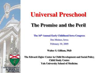 Universal Preschool  The Promise and the Peril