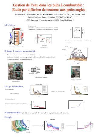 Gestion de l eau dans les piles   combustible : Etude par diffusion de neutrons aux petits angles