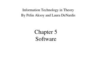 Chapter 5 Software