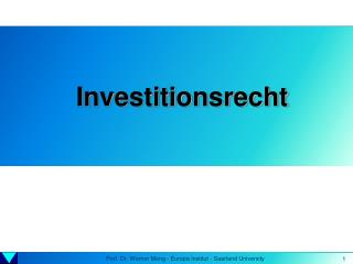 Investitionsrecht
