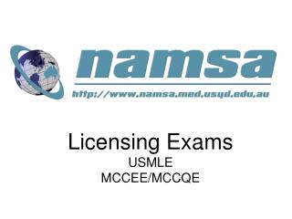 Licensing Exams USMLE MCCEE
