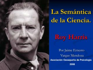 La Sem ntica de la Ciencia.  Roy Harris