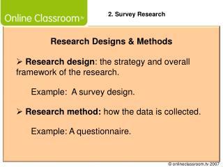 Research Designs  Methods