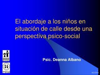 El abordaje a los ni os en situaci n de calle desde una perspectiva psico-social