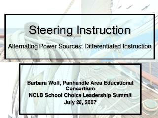 Steering Instruction Alternating Power Sources: Differentiated Instruction