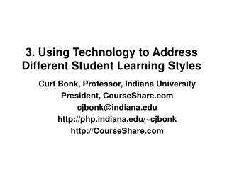 3. Using Technology to Address Different Student Learning Styles