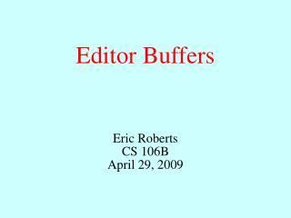 Editor Buffers