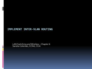 Implement Inter-VLAN Routing