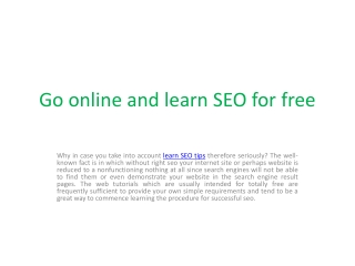 Learn SEO tips