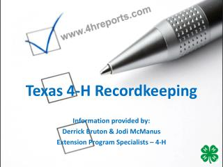 Texas 4-H Recordkeeping