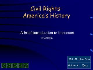 Civil Rights- America s History