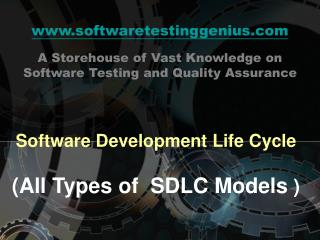 Software Development Life Cycle  All Types of  SDLC Models