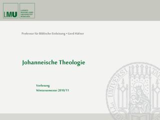 Professur f r Biblische Einleitung   Gerd H fner