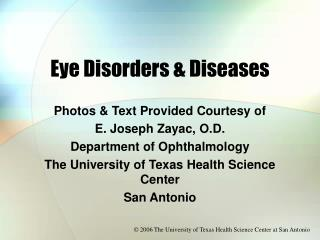 Eye Disorders  Diseases