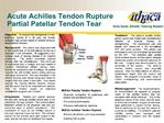 Acute Achilles Tendon Rupture Partial Patellar Tendon Tear