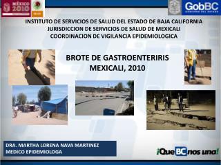 INSTITUTO DE SERVICIOS DE SALUD DEL ESTADO DE BAJA CALIFORNIA JURISDICCION DE SERVICIOS DE SALUD DE MEXICALI COORDINACIO