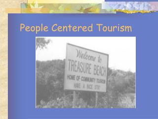 People Centered Tourism