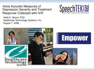Voice Acoustic Measures of Depression Severity and Treatment Response Collected with IVR