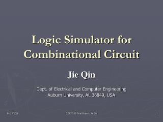 Logic Simulator for Combinational Circuit