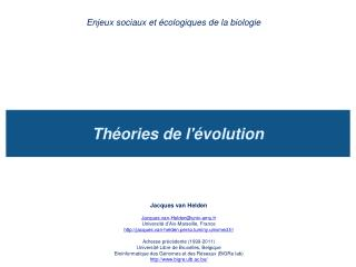 Th ories de l volution