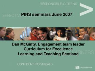 PINS seminars June 2007
