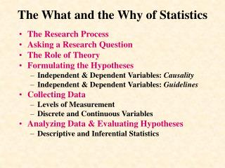 The What and the Why of Statistics