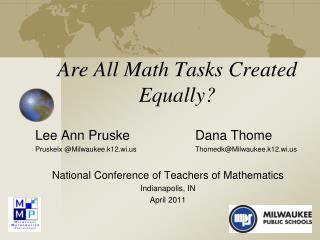 Are All Math Tasks Created Equally