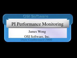 PI Performance Monitoring