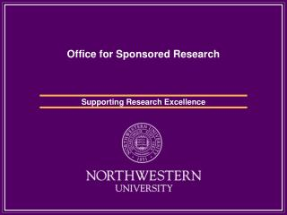 Office for Sponsored Research