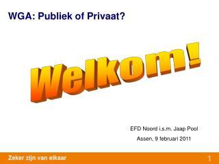 WGA: Publiek of Privaat