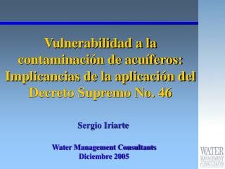 Water Management Consultants Diciembre 2005