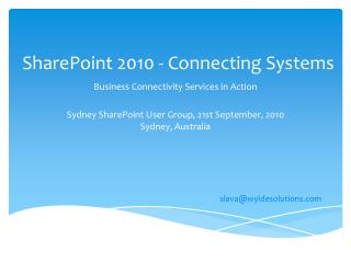 SharePoint 2010 - Connecting Systems