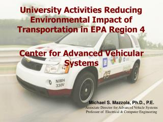 University Activities Reducing Environmental Impact of Transportation in EPA Region 4