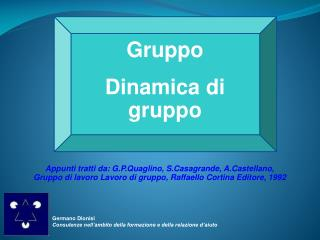 Gruppo  Dinamica di gruppo
