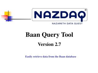 Easily retrieve data from the Baan database