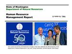 State of Washington Department of Natural Resources  Human Resource Management Report