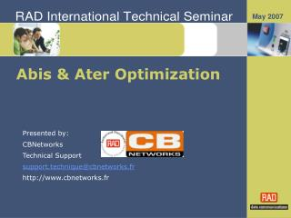 Abis  Ater Optimization