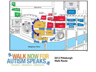 2012 Pittsburgh Walk Route
