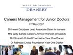 Careers Management for Junior Doctors 17th May 2007