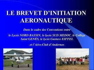LE BREVET D INITIATION AERONAUTIQUE
